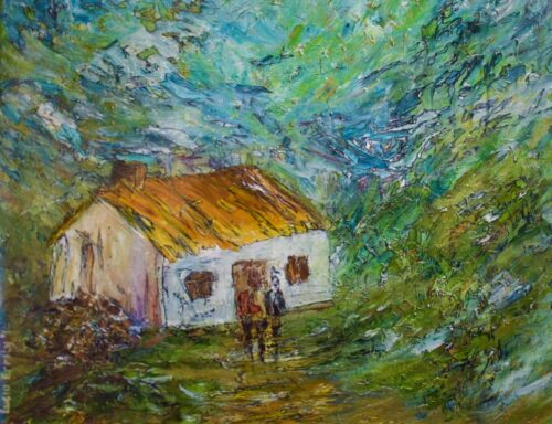 Cottage on the hill Lucia Errity Art